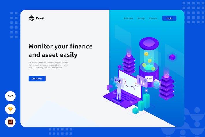 Thumbnail for Financial Advisor - Website Header - Illustration