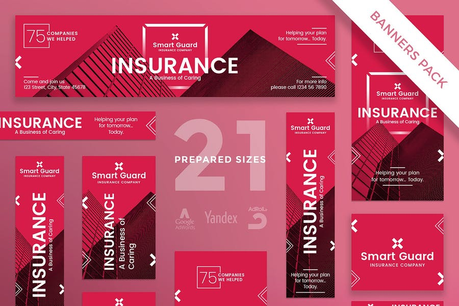 Insurance Company Banner Pack Template
