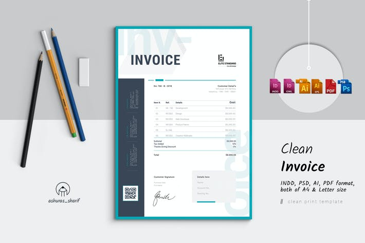 Thumbnail for Clean Invoice