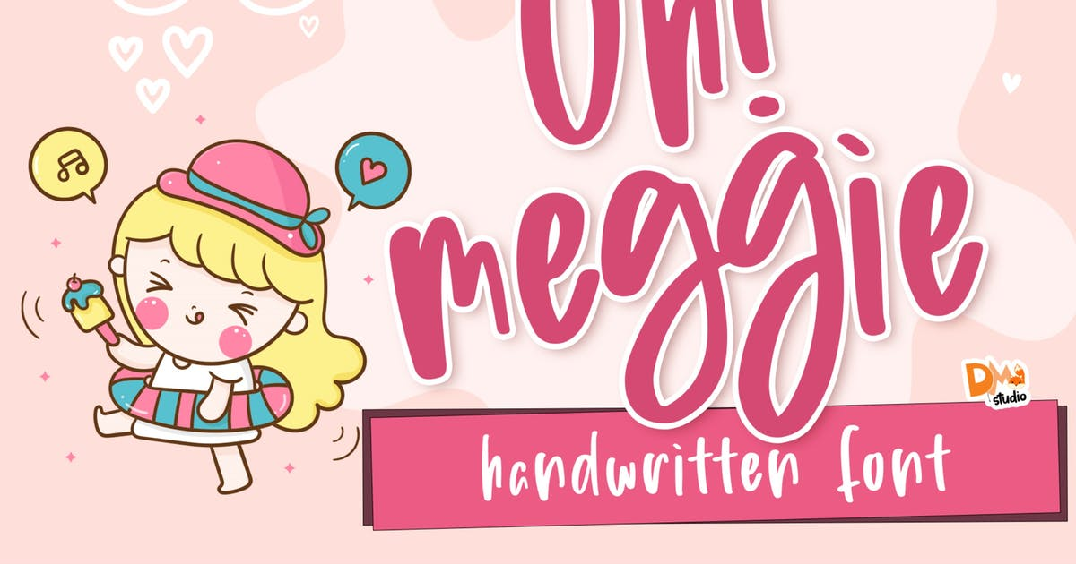 Download Oh! Meggie - Handwritten Font by DmLetter