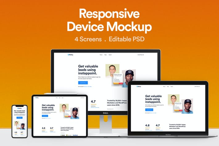 Thumbnail for Responsive Device Mockup 01