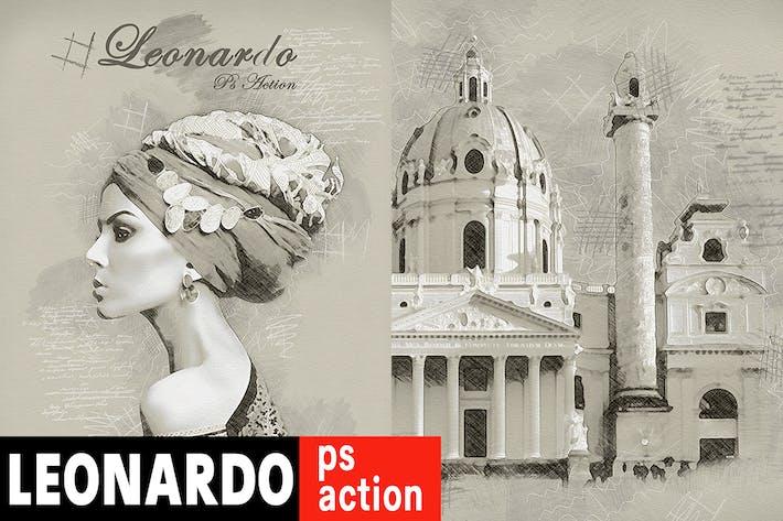 Thumbnail for Leonardo Photoshop Acción - Figura de vídeo