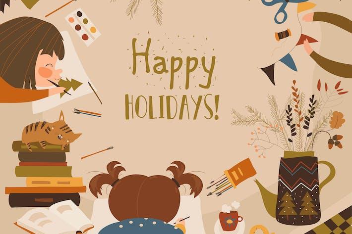 Thumbnail for Kreativer Prozess mit Kindermalerei und Kindern
