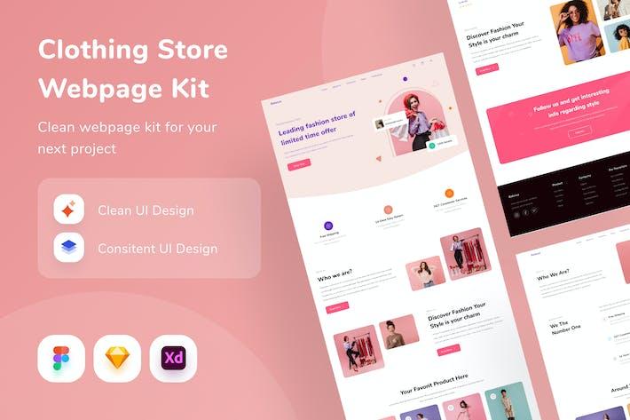 Clothing Store Webpage Kit