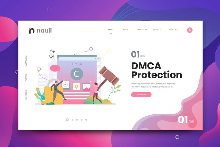 Thumbnail for DMCA Protection Web PSD and AI Vector Template