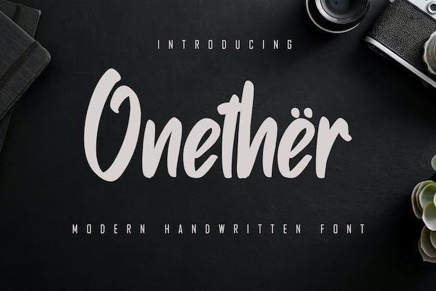 Onether - Modern Handwritten Font