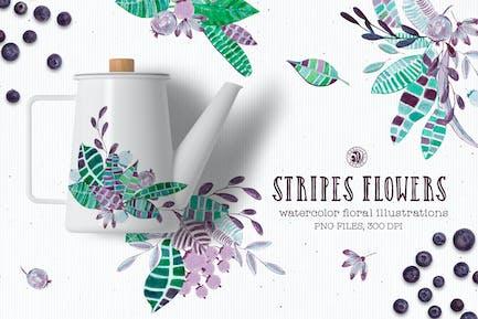 Stripes Flowers