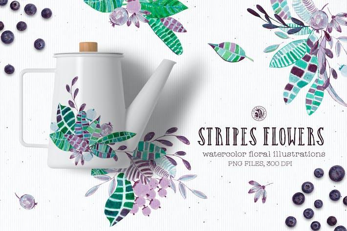 Thumbnail for Stripes Flowers