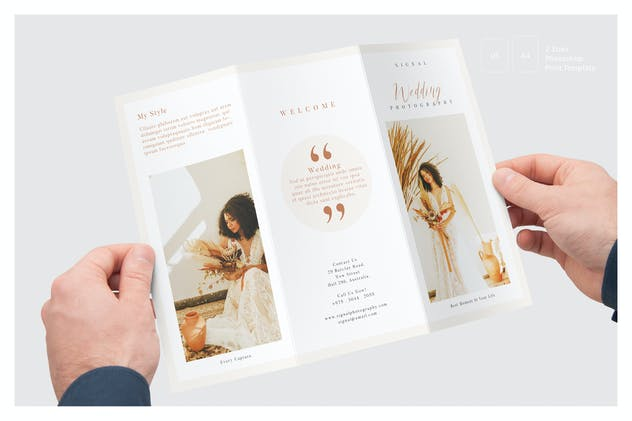 Wedding Photography Price List Trifold Brochure