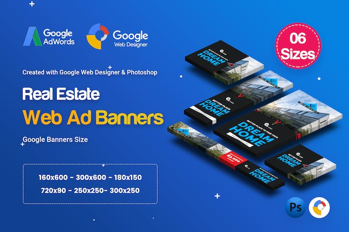 Thumbnail for C32 - Real Estate Banners HTML5 Ad - GWD & PSD