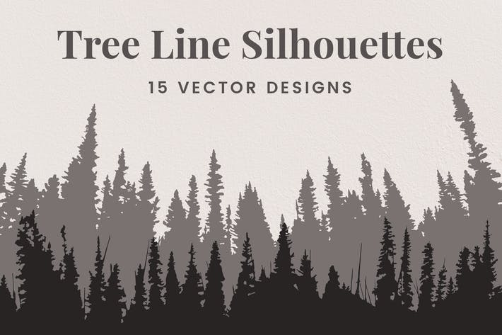 Thumbnail for Vector Tree Line Silhouettes