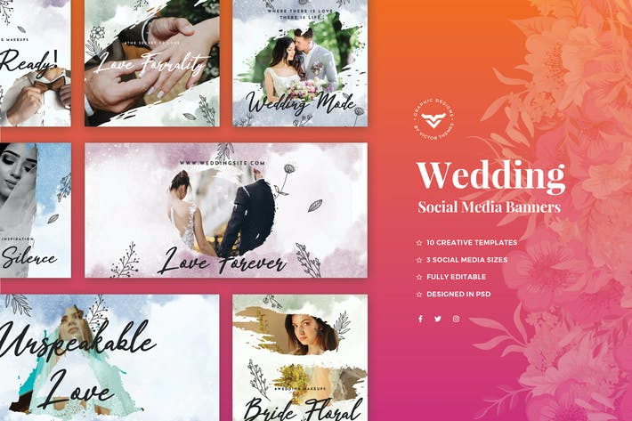 Thumbnail for Wedding Social Media Template