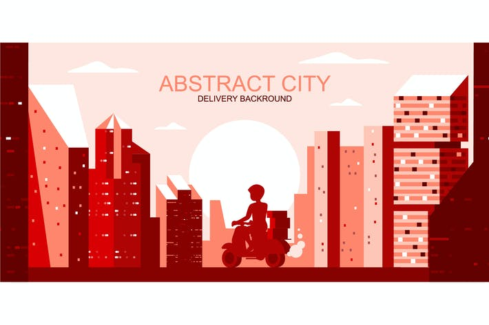 Thumbnail for Delivery City Vector Illustration Header Website