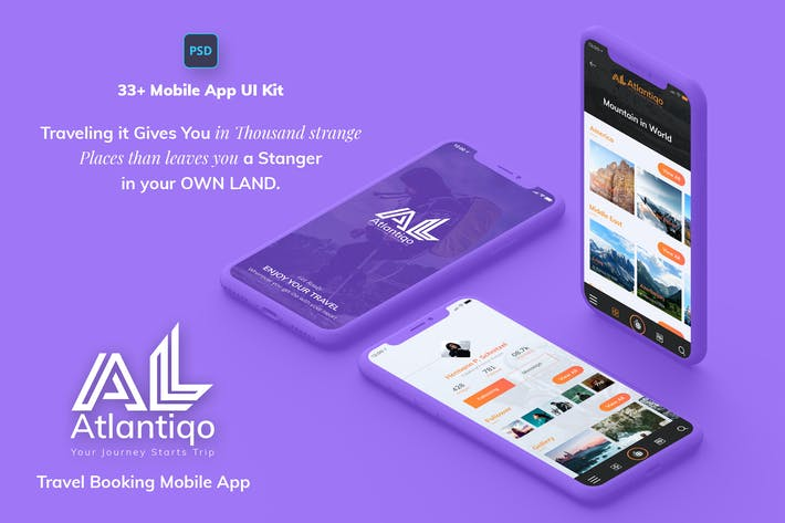 Thumbnail for Atlantigo-Travel & Flight Booking MobileApp UI Kit