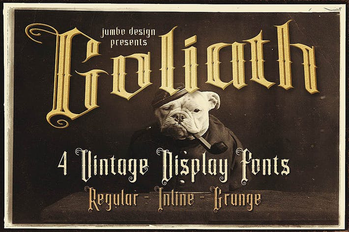 Thumbnail for Goliath - Display Font