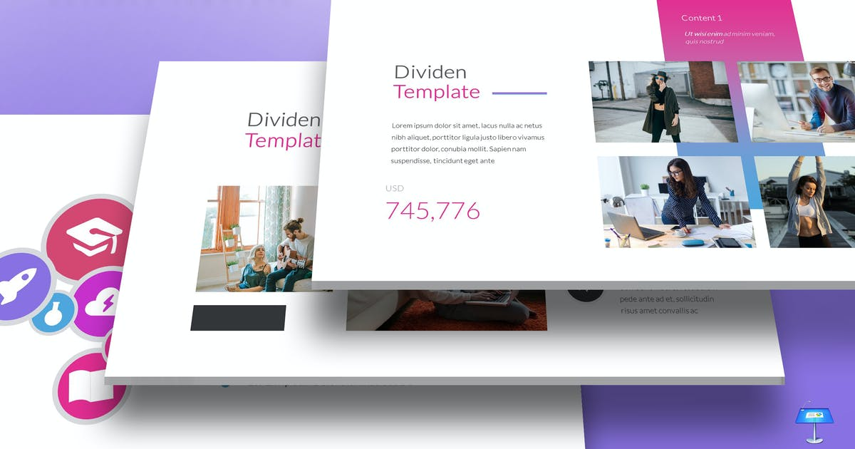 Download Dividen - Keynote Template by aqrstudio