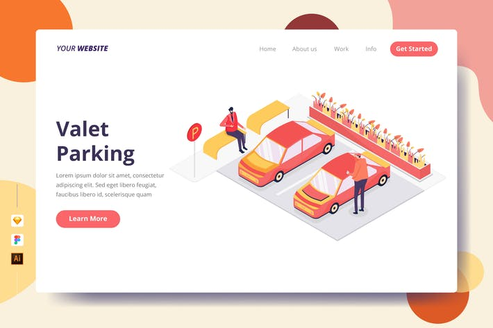 Thumbnail for Valet Parking - Landing Page