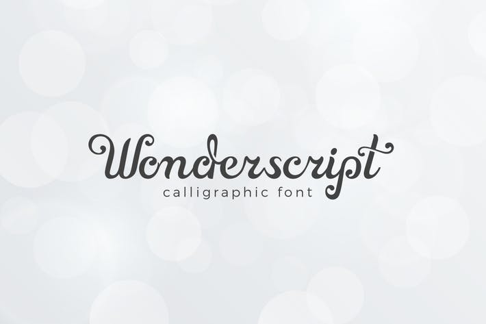 Thumbnail for Wonderscript Calligraphic Font