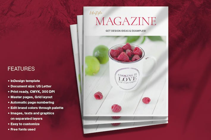 Magenta Magazine Layout