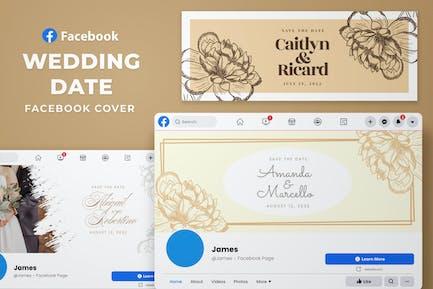 Couverture Facebook - Date de mariage