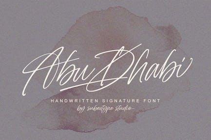 Abu Dhabi Signature Font