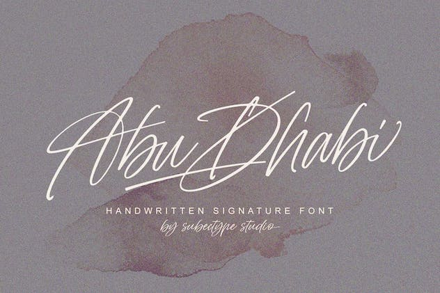 Abu Dhabi Signature Font - product preview 9