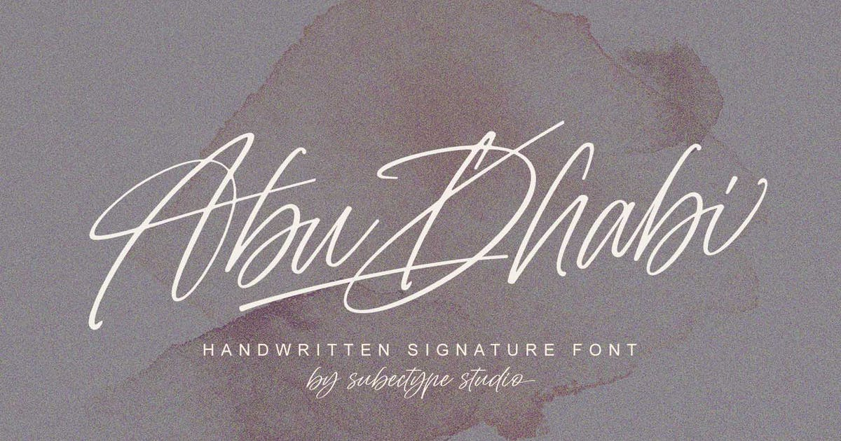 Download Abu Dhabi Signature Font by Subectype