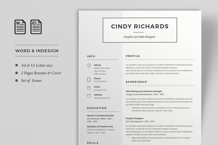 Thumbnail for Resume Cindy