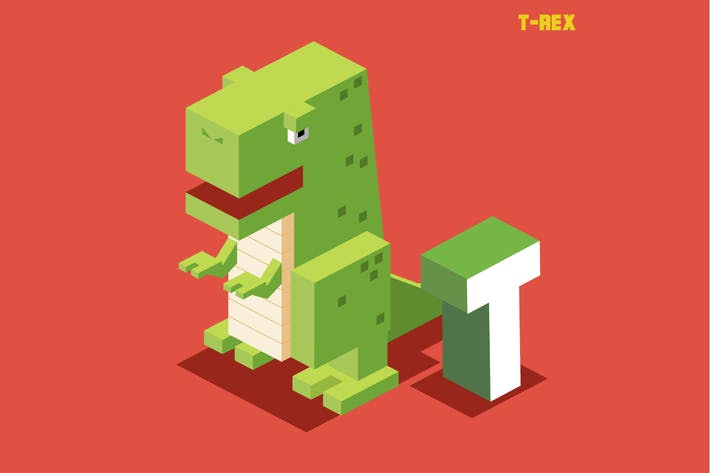 Thumbnail for T for T-rex, Animal Alphabet