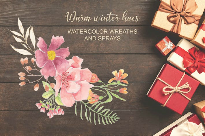 Thumbnail for Warm Winter Hues: Watercolor Wreaths and Sprays