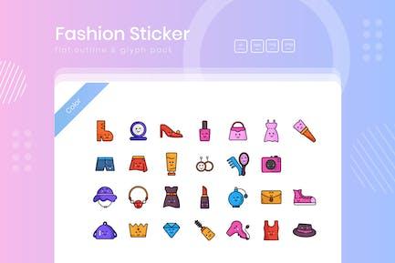 Fashion Cute Sticker Icon Pack
