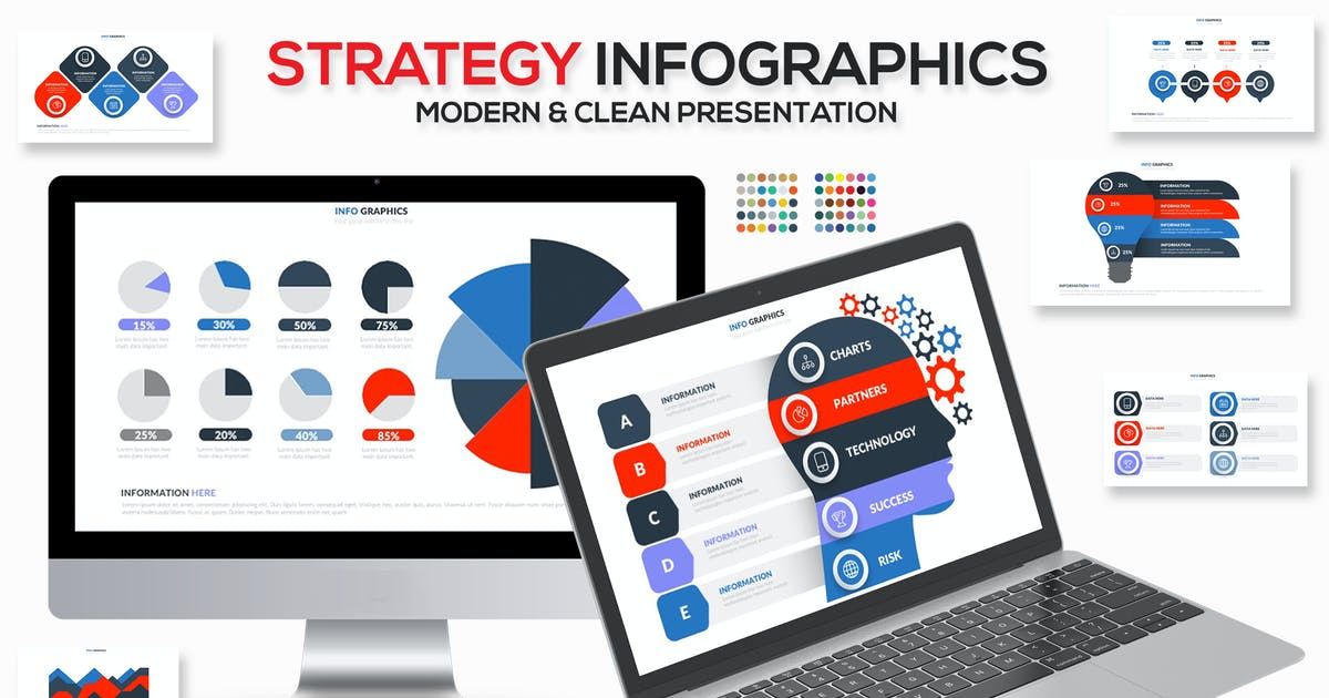 Download Strategy Infographics Keynote Template by mamanamsai