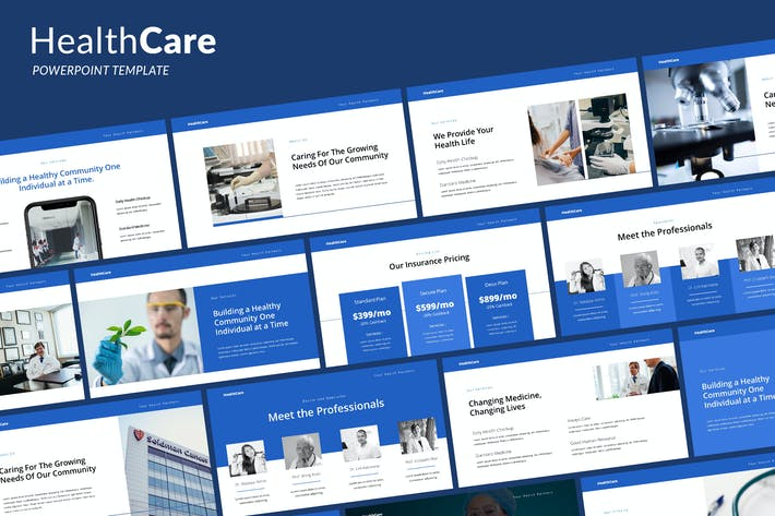 Cover Image For Health Care - Powerpoint Template