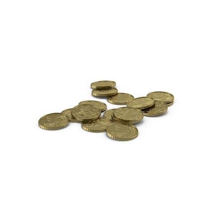 Euro 10 Cent Coin Pile