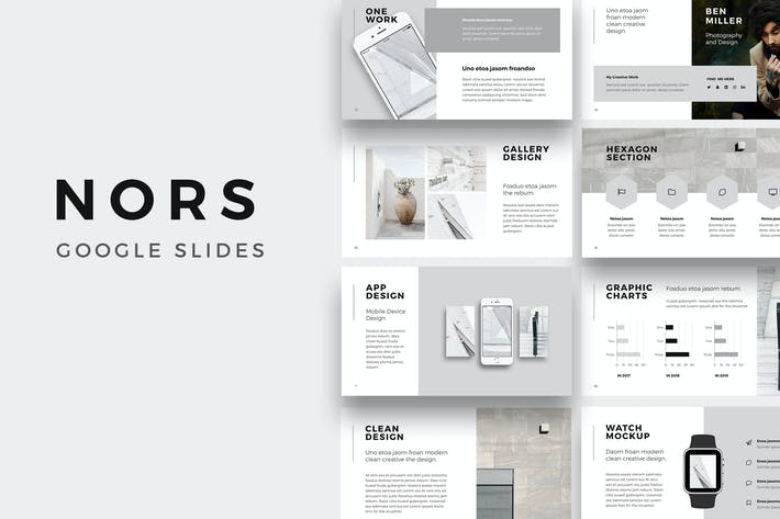 NORS Google Slides Template By MuseFrame On Envato Elements - Google slides theme templates
