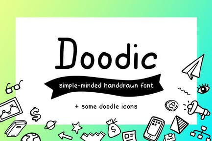 Doodic| font with doodle icons