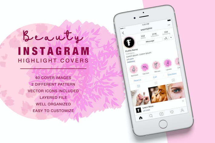 Thumbnail for Beauty Instagram Highlight Cover Pink