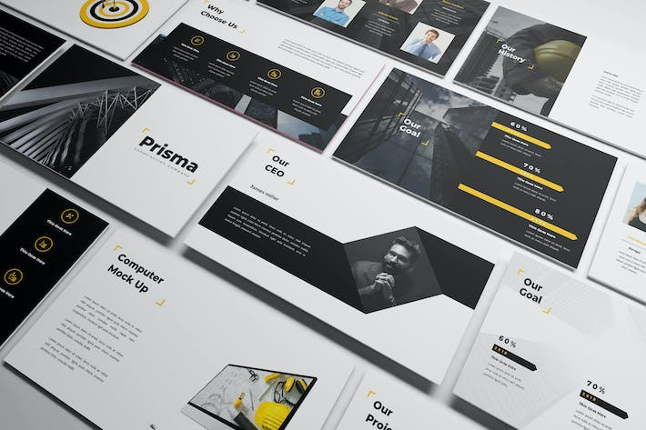 Thumbnail for Prisma - Construction Keynote Template