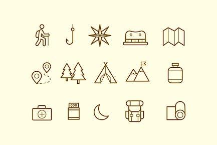 15 Mountain Trek Icons