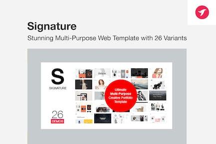 SIGNATURE - Multi-Purpose / Many Concept Portfolio