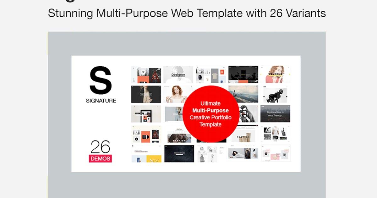 Download SIGNATURE - Multi-Purpose / Many Concept Portfolio by designova