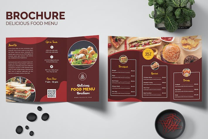Delicious Food Menu Brochure