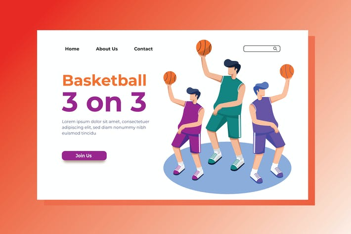 Thumbnail for Basketball Landing Page Illustration
