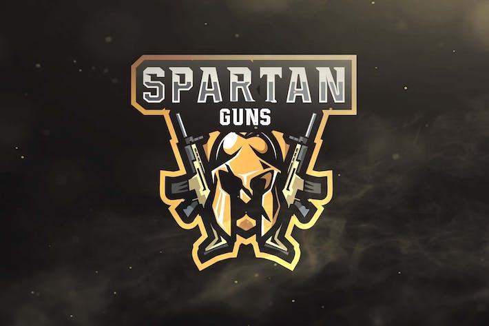 Thumbnail for Spartan Guns Sport and Esports Logos