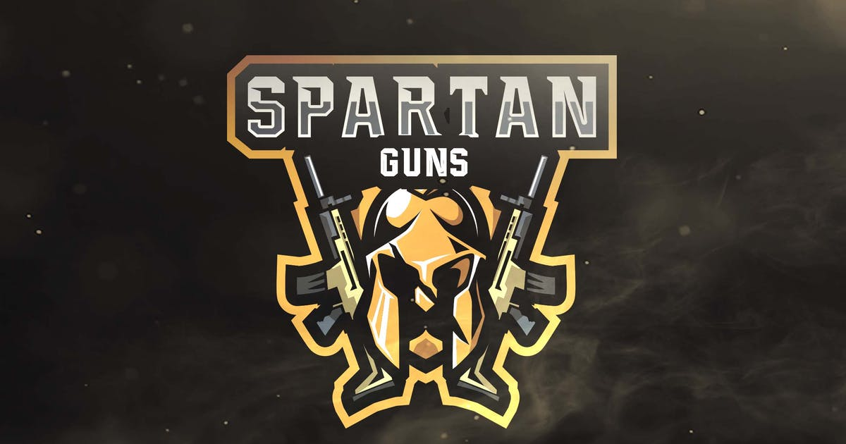 Download Spartan Guns Sport and Esports Logos by ovozdigital