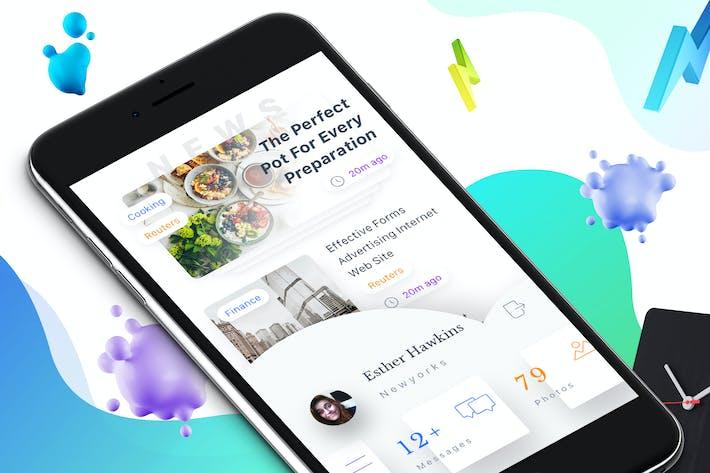 Thumbnail for Navigation 3 Mobile Ui