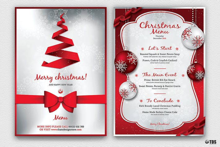 Christmas Menu Template V4