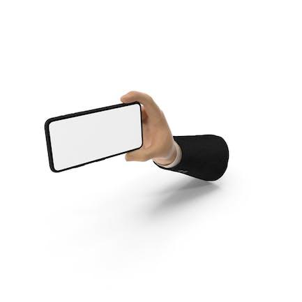 Suit Hand Holding Phone Landscape