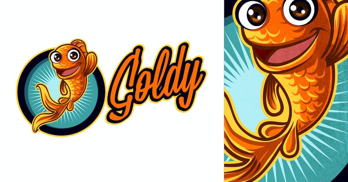 Cartoon Goldfish Mascot Logo by Suhandi