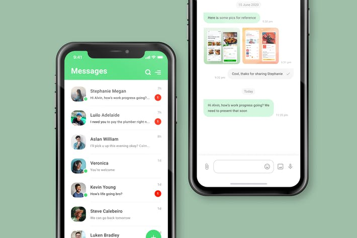 Thumbnail for Chat Messaging App Screen
